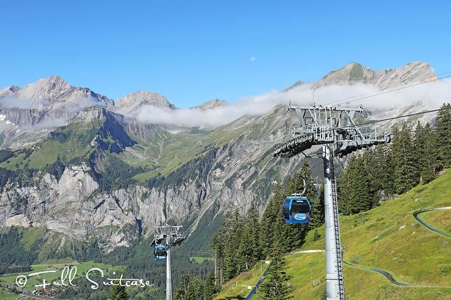 Kandersteg cable car to Oeschinen Lake