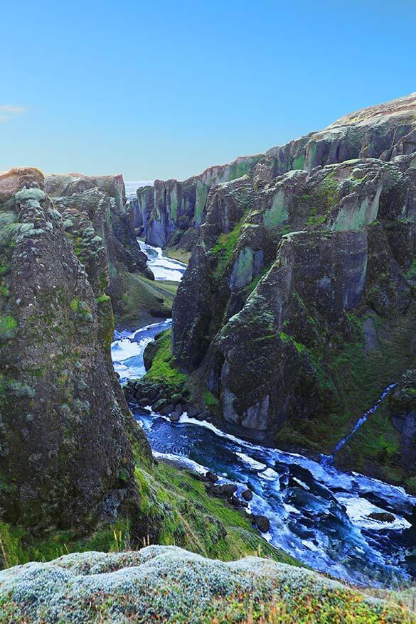 Fjadrargljufur Canyon near Kirkjubaejarklaustur in Iceland