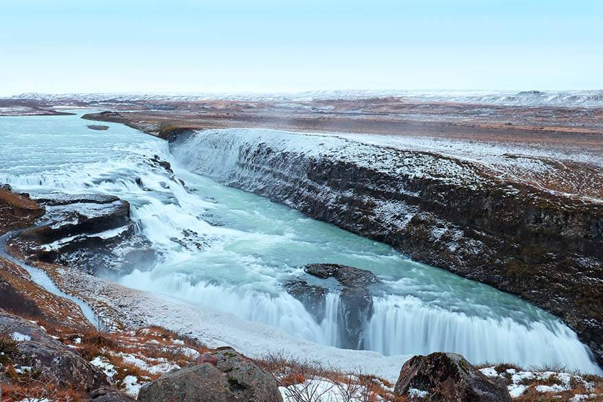 Gulfoss waterfall in winter - Goden Cirlce Iceland