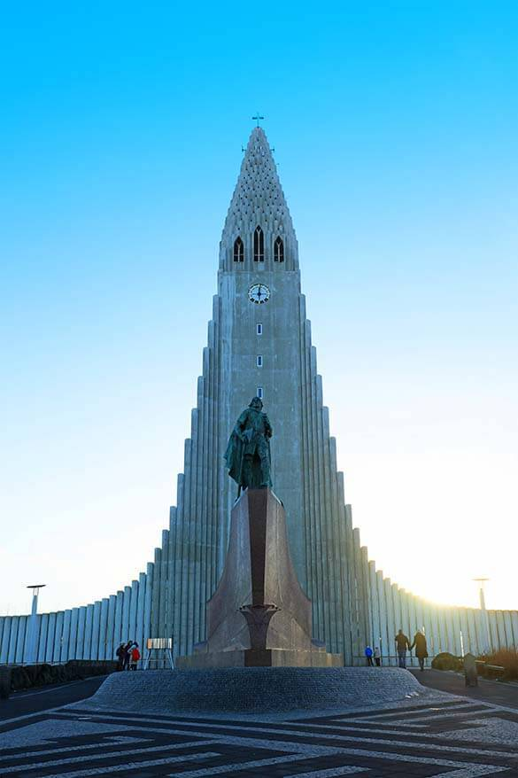 Hallgrimskirkja church is not to be miseed in Reykjavik Iceland