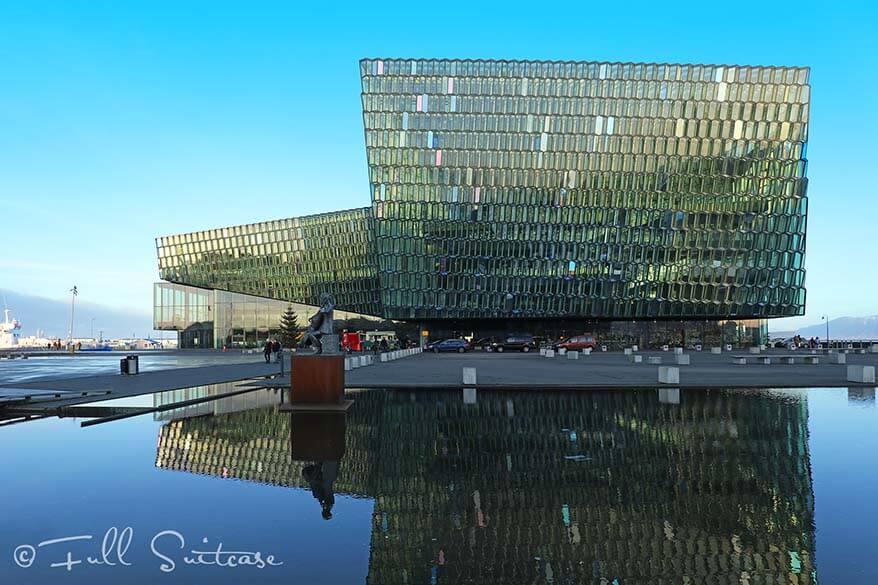 Harpa Music Hall in Reykjavik Iceland