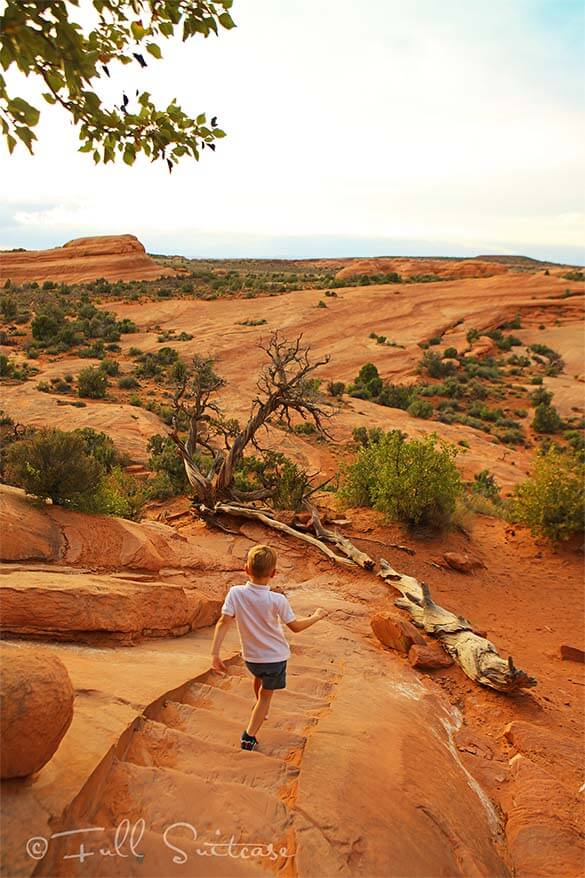 Hiking the Delicate Arch Trail with kids