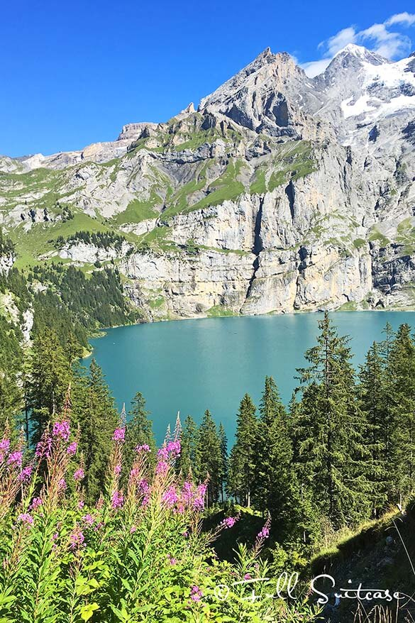 Oeschinensee Lake near Kandersteg Switzerland