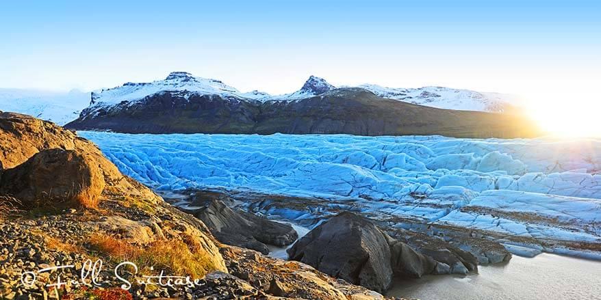 Svinafellsjokull glacier - one of the many tongues of Vatnajokull glacier in Southern Iceland