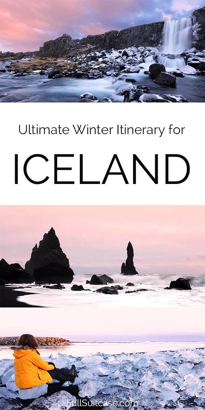 Ultimate Iceland winter itinerary for a one week self-drive road trip