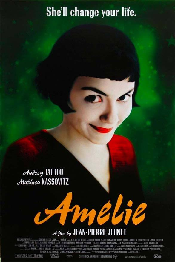 Amelie - good travel movie that will inspire to visit Paris