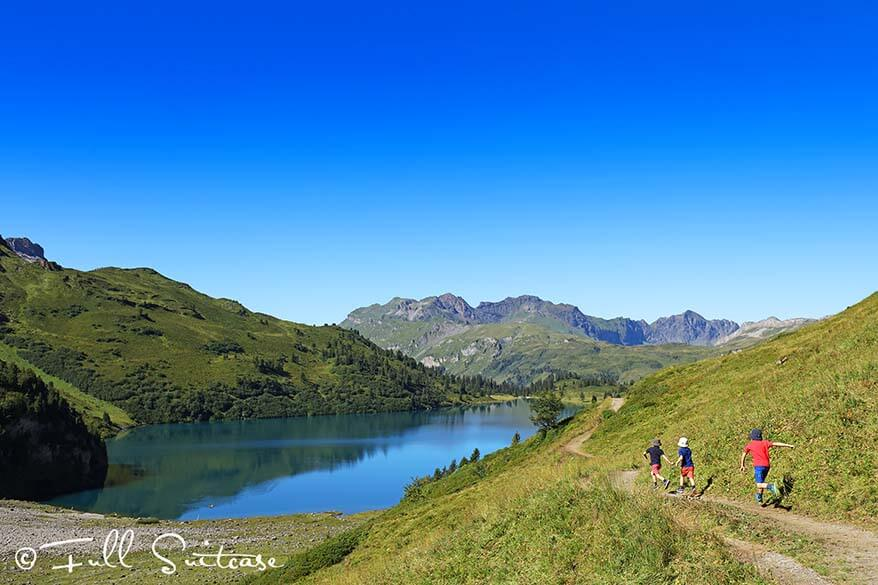 Hiking the Four Lakes Trail in Switzerland with kids