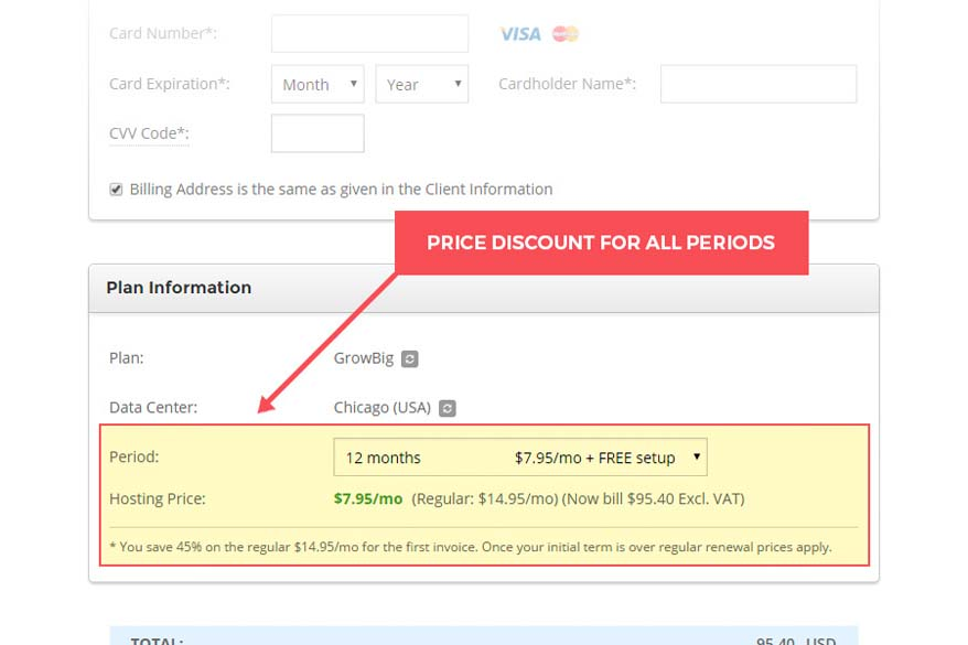 Secure the cheap hosting rate for a longer period of time