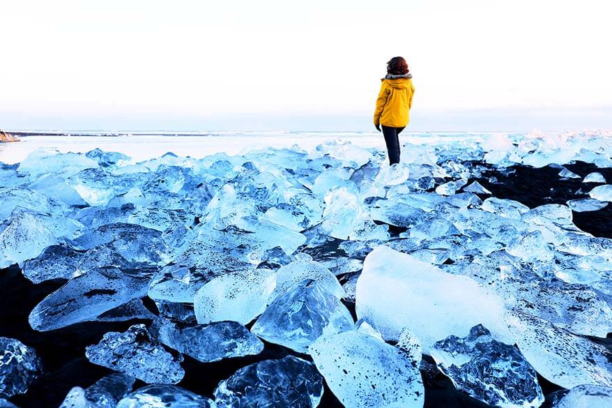 Ice beach of Jokulsarlon in Southern Iceland