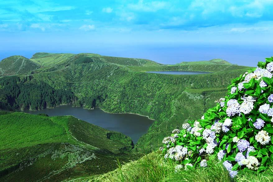 Flores Island in the Azores Portugal