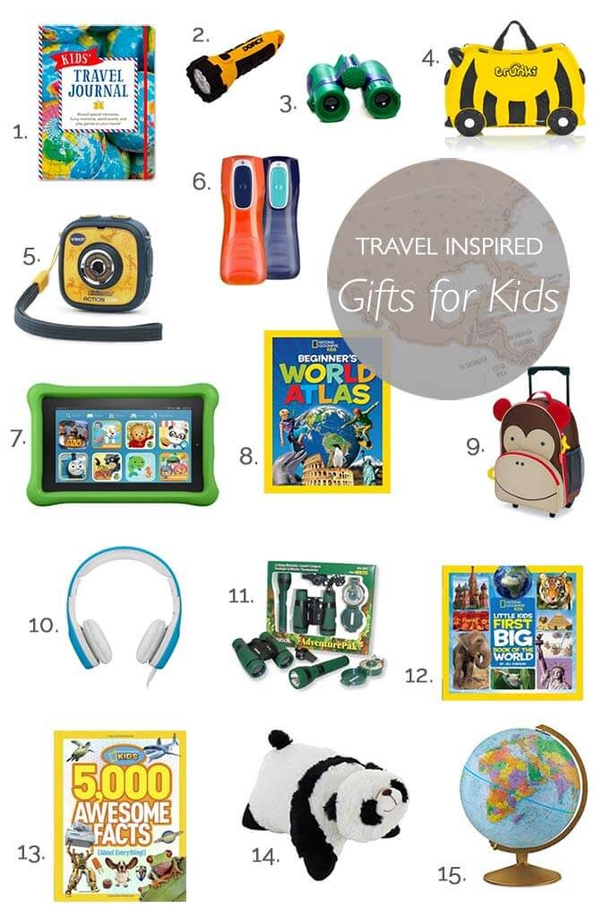 Great non-toy gift ideas for traveling kids. Our kids love these!
