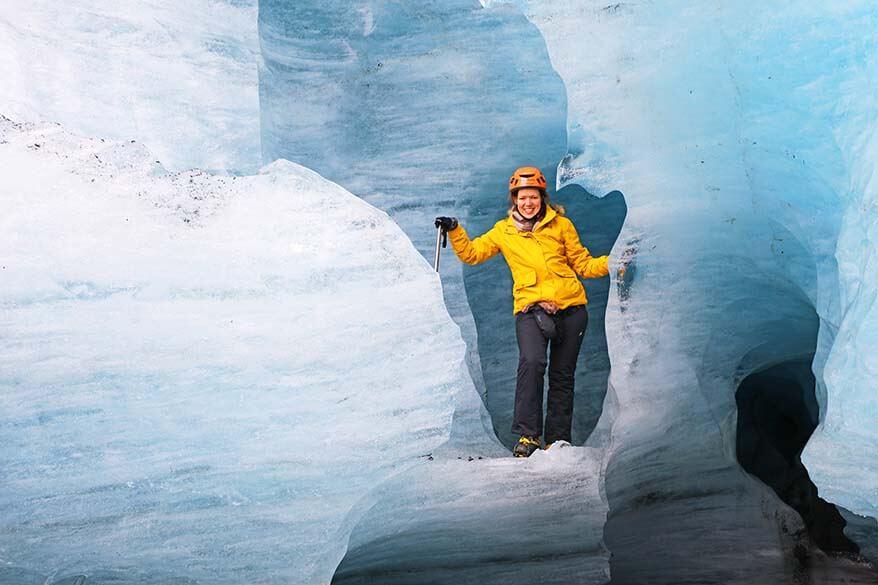 Hiking on Skaftafell glacier in Iceland