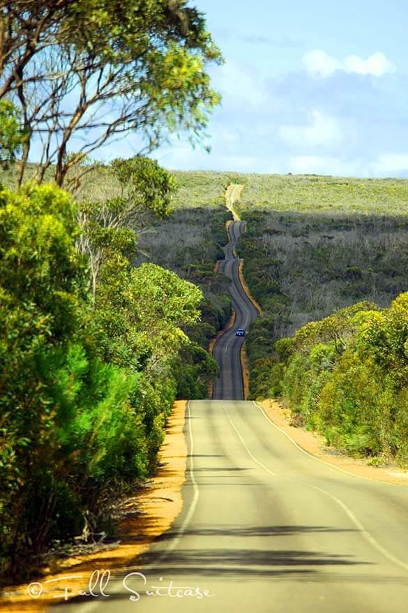 Driving on Kangaroo Island