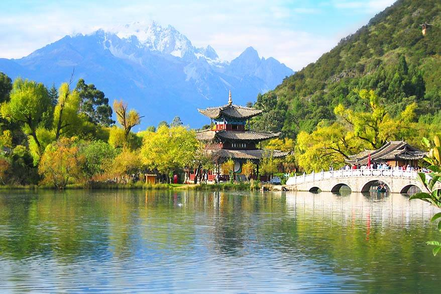 Jade Spring Park in Lijiang city in Yunnan province in China