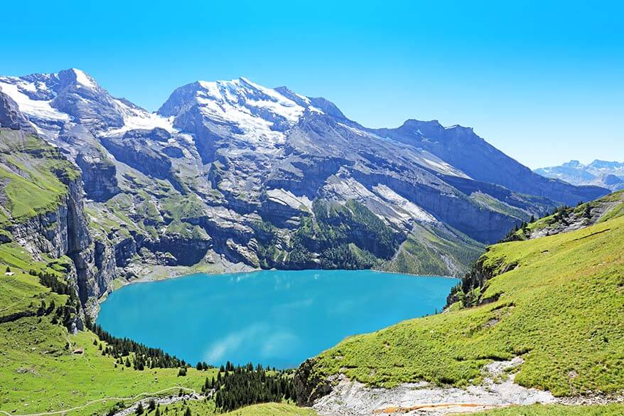 Oeschinensee Lake in Switzerland
