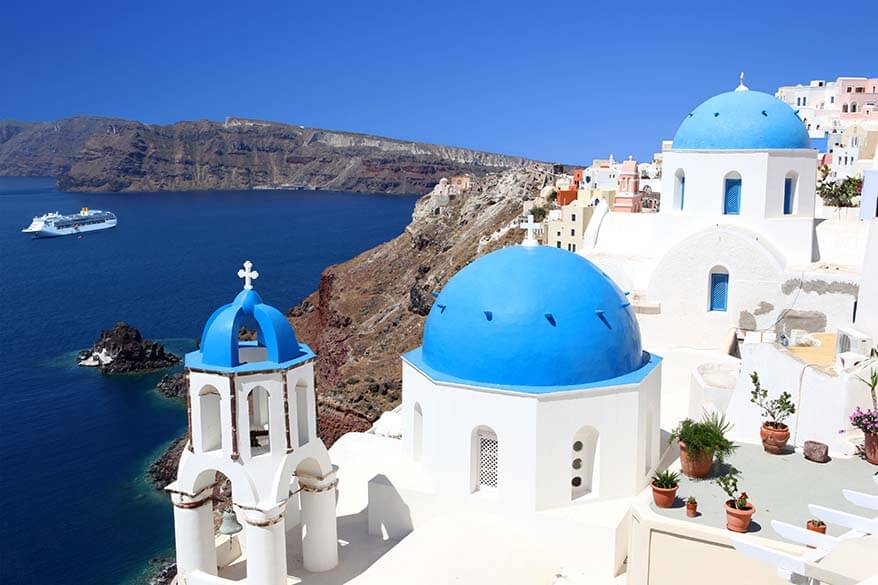 Oia in Santorini Greece