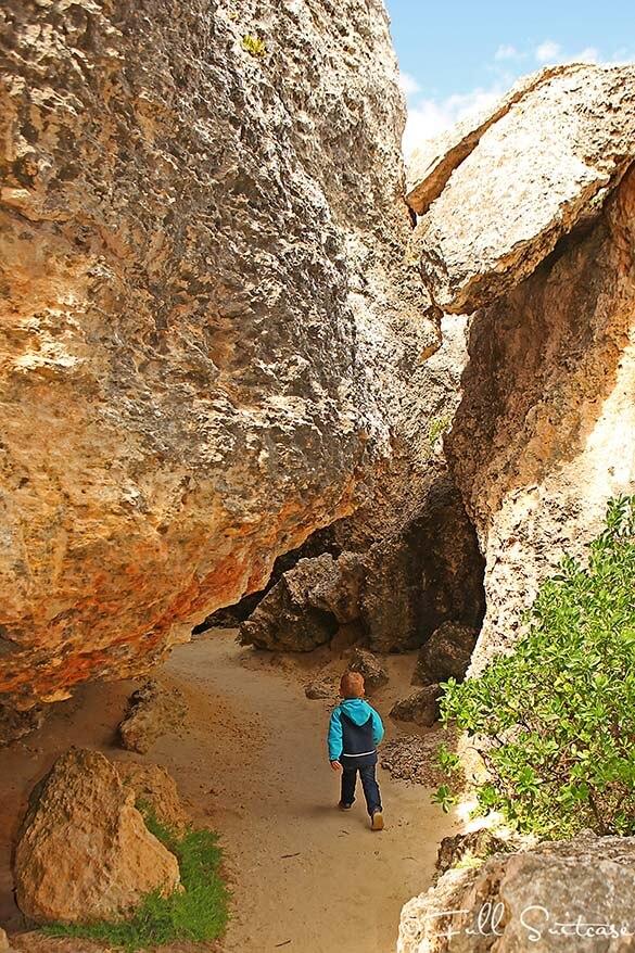 Kids hiking to Stokes Bay Kangaroo Island