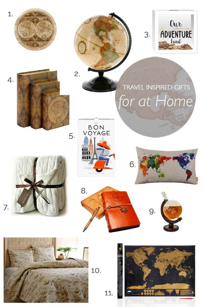 Travel inspired home gift ideas for men, women and children