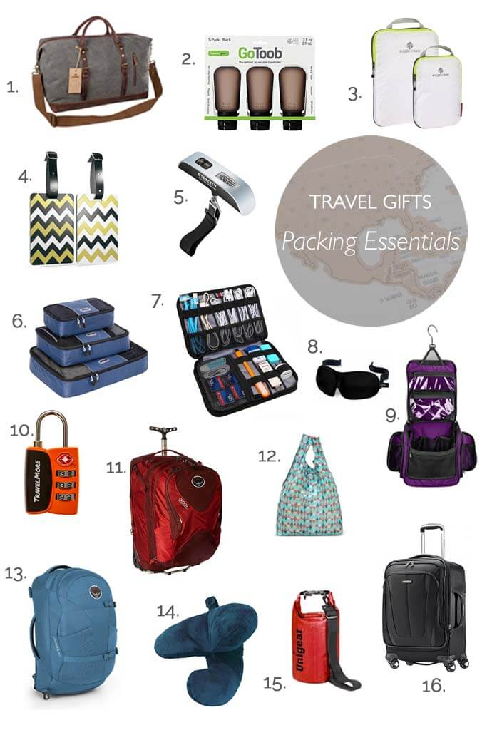 Best travel gifts - packing essentials for every traveller