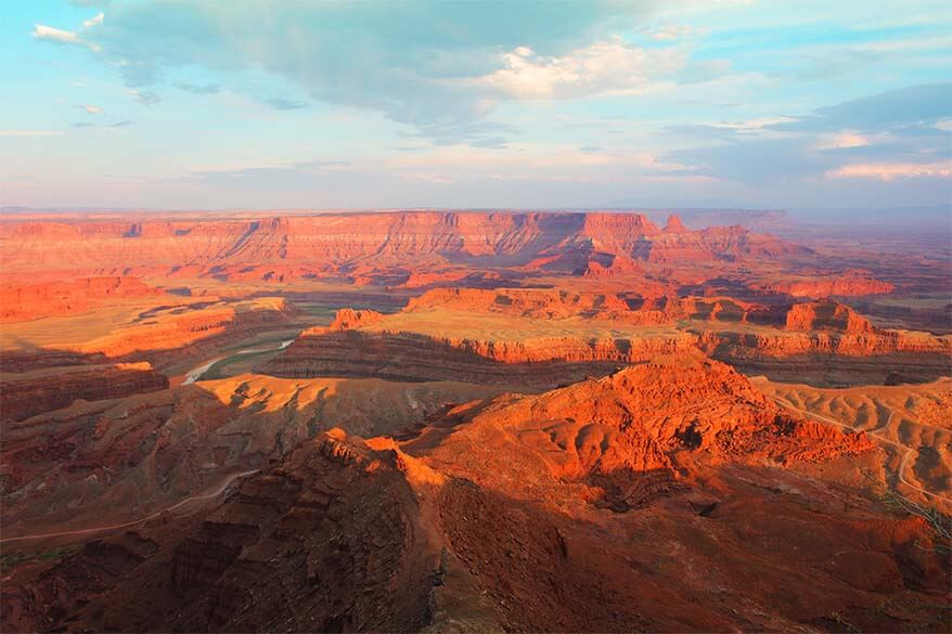 Sunset at Dead Horse Point State Park Utah USA