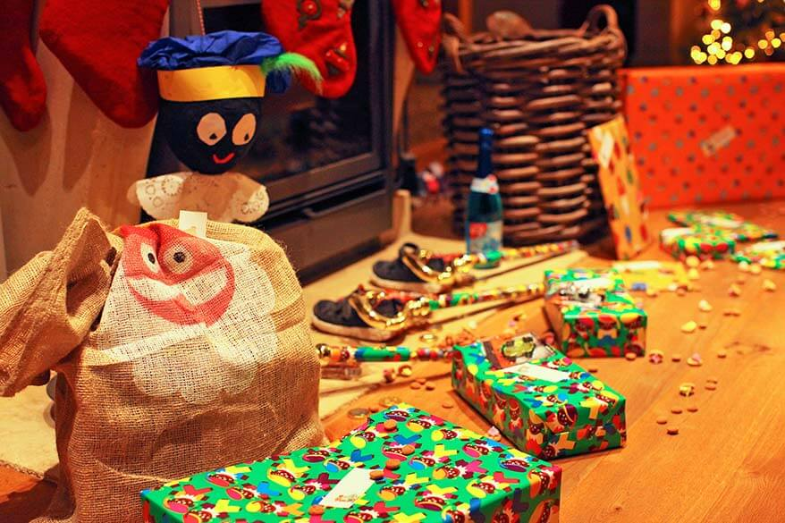 Sinterklaas presents on the 6 of December - different Holiday tradition in Belgium