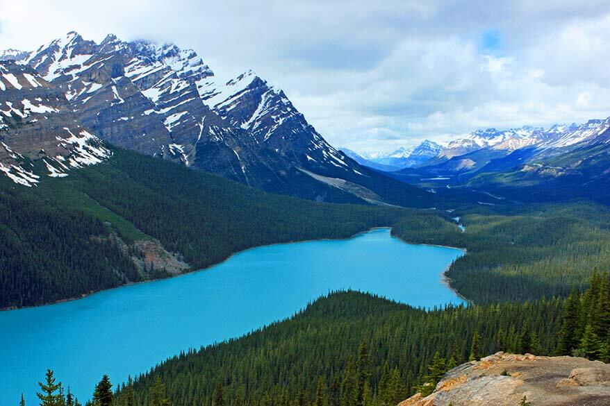 Peyto Lake lookout, Icefields Parkway Canada