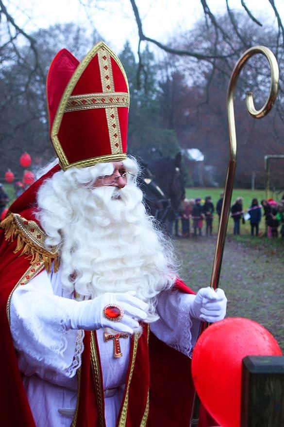 Sinterklaas or Saint Nicholas in Belgium