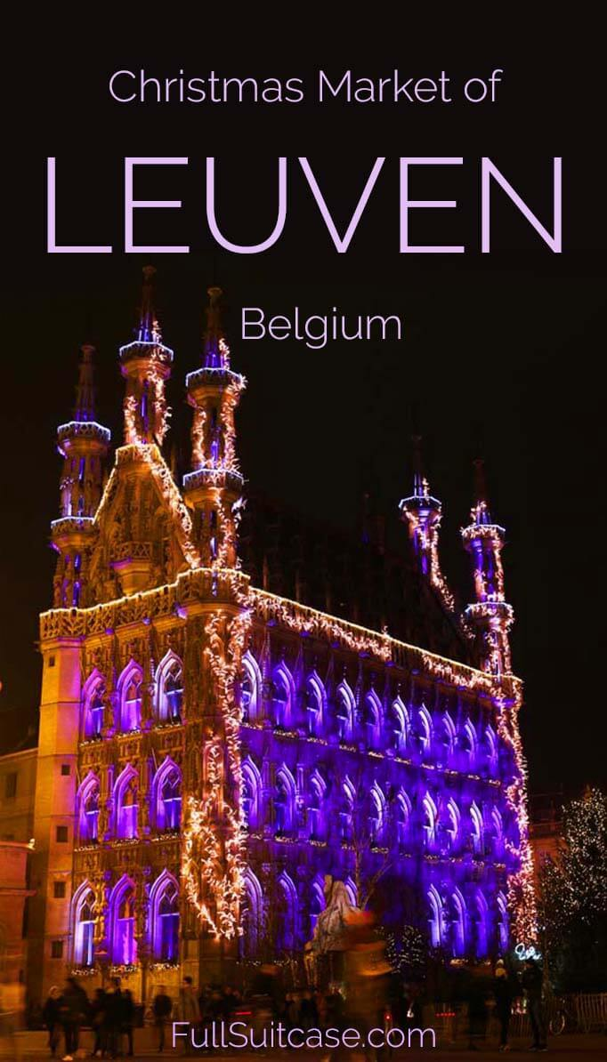 Visit the Christmas market of Leuven in Belgium