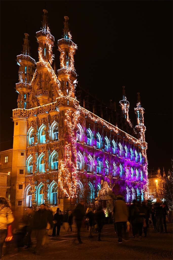 Leuven Town Hall during Christmas season. Winter time in our favourite Belgian town.
