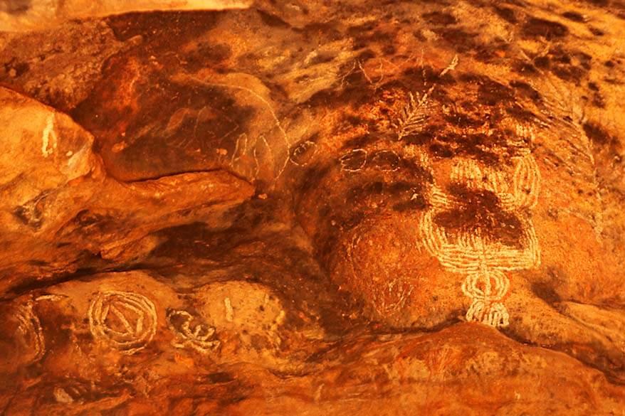 Australian Aboriginal Anangu rock art at Ayers Rock