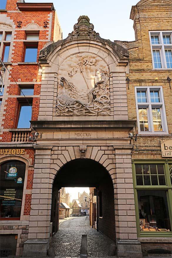 Beautiful old buildings in Ypres in Belgium