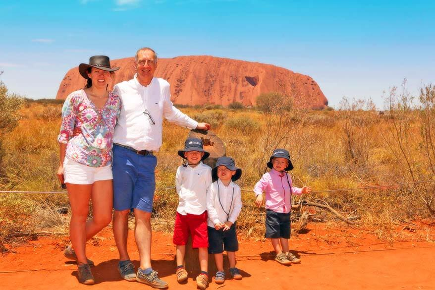 Family trip to Red Centre Australia - Ayers Rock Uluru
