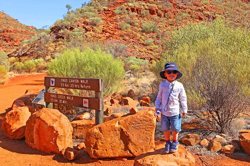 Kings Canyon Australia with Kids