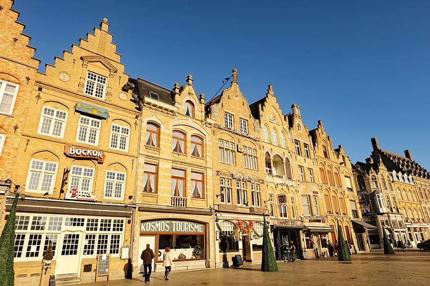 Old town buildings in Ypres Belgium