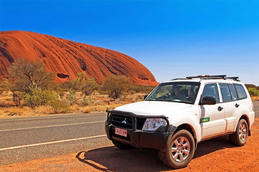 Road trip at Ayers Rock Australia
