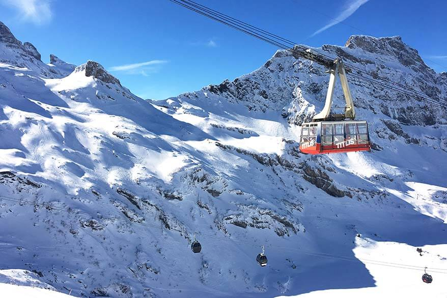 Ski lifts in Engelberg Switzerland