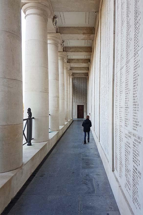 Visiting the Menin Gate in Ypres Belgium