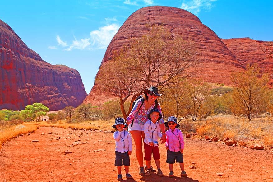 Walpa Gorge Walk with kids at Kata Tjuta Australia