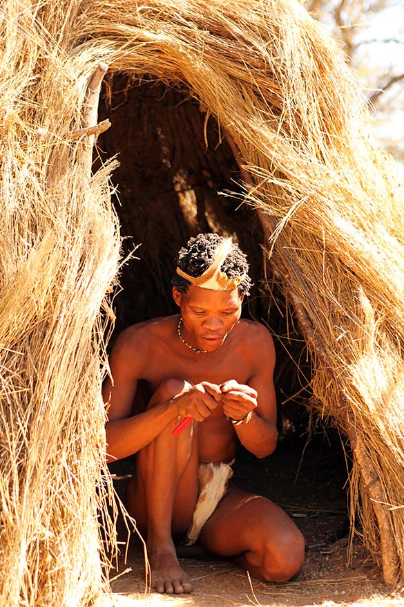 Buhmen medicine man in Namibia