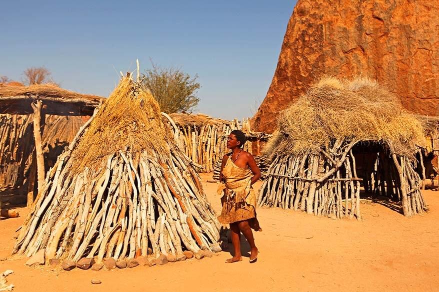 Damara living museum in Namibia