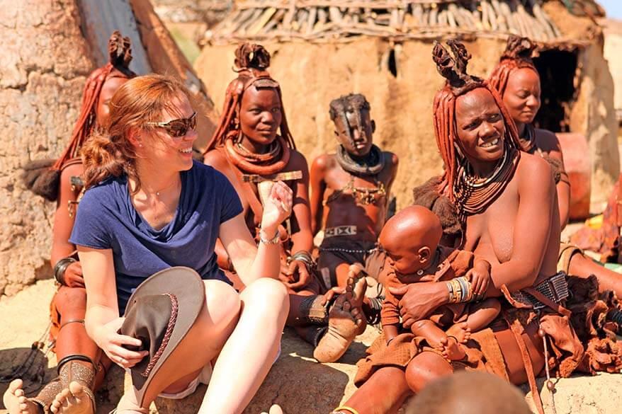 Meeting Himba tribe in Damaraland Namibia