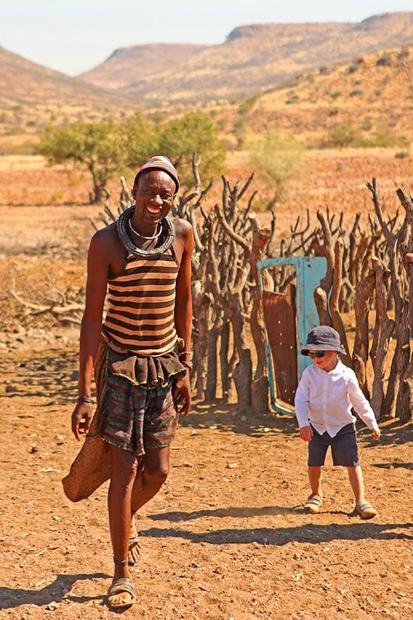 The leader of the Himba clan we visited had three wives and twenty seven children