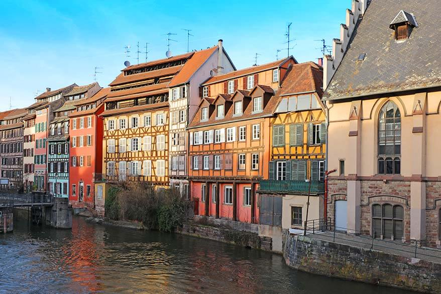 Colourful buildings of La Petite France Strasbourg