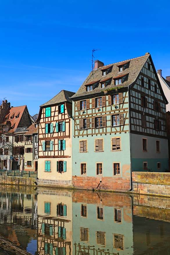 Colorful buildings of La Petite France in Strasbourg