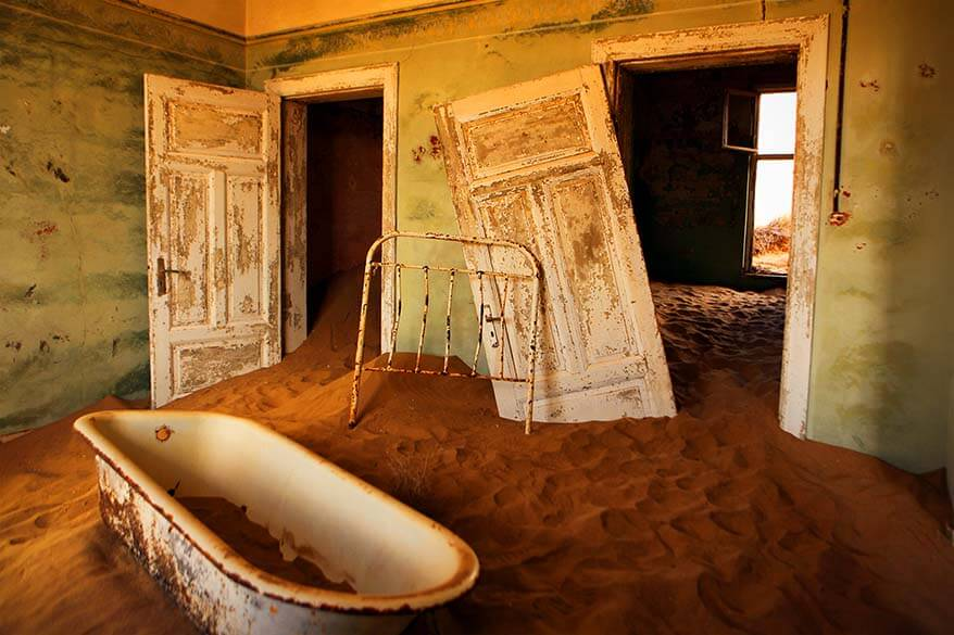 Kolmanskop Ghost Town is one of the best places to visit in Namibia