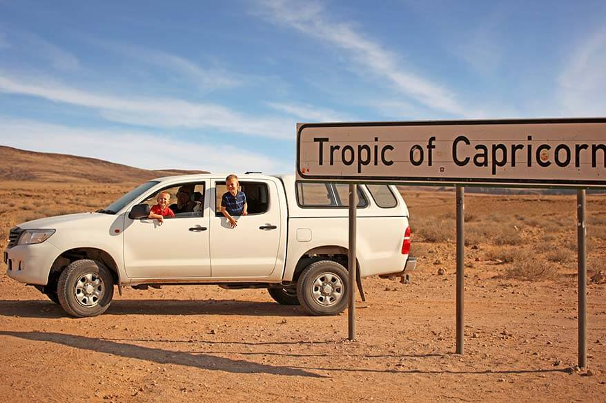 Tropic of Capricorn sign Namibia