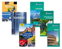 best travel guides - Michelin green guide and Lonely Planet travel guidebooks