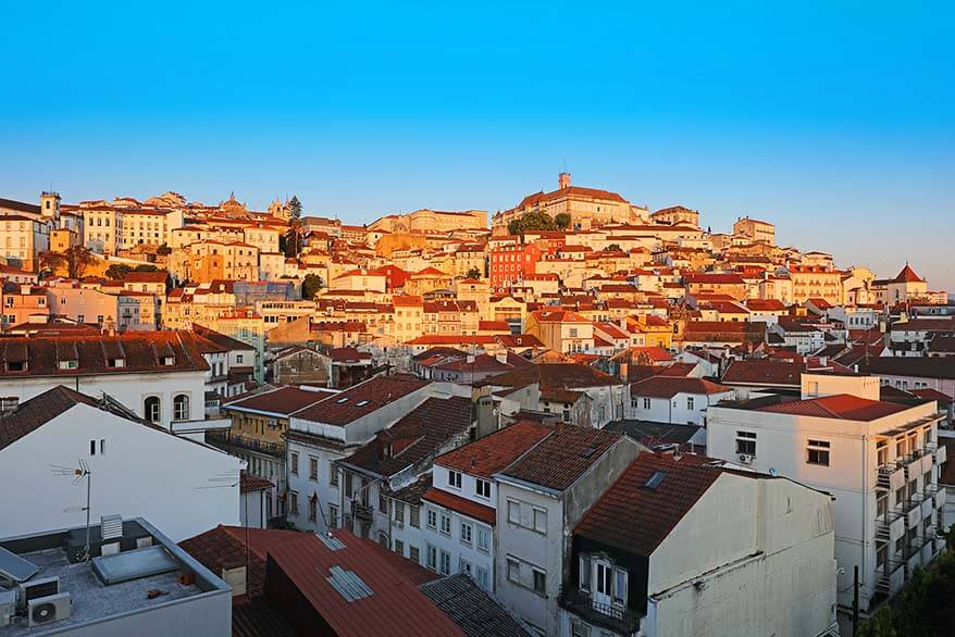 Coimbra old town at sunset