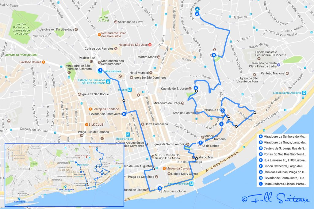 See the best of Lisbon in one day with this itinerary and walking map