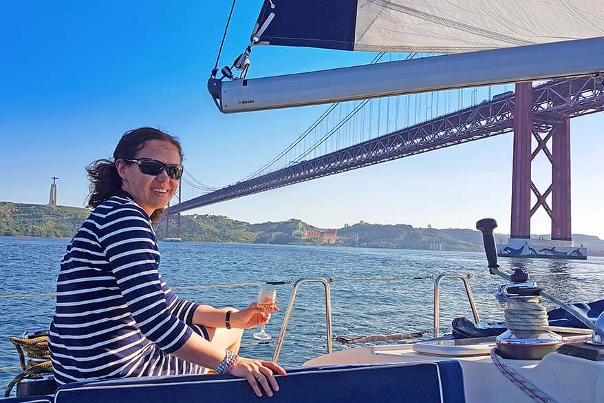 Lisbon sailing cruise on Tagus river
